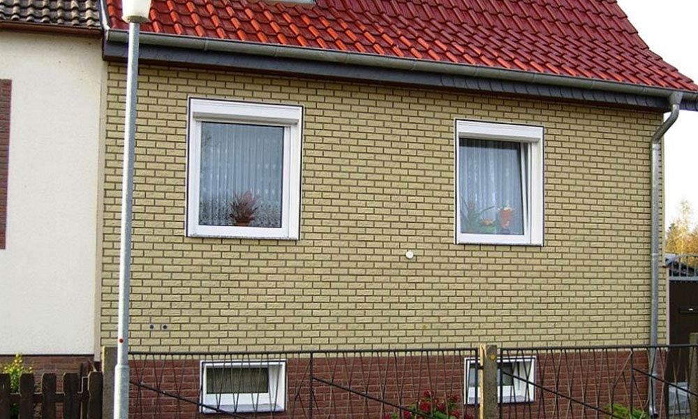 Фасад дома в коллекции желтый кирпич