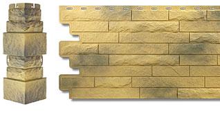 Фасадная панель кирпич антик и облицовочный угол