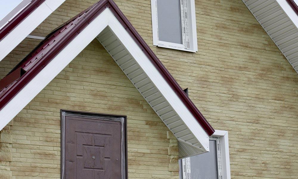 обшивка фасадными панелями дома коллекция кирпич антик