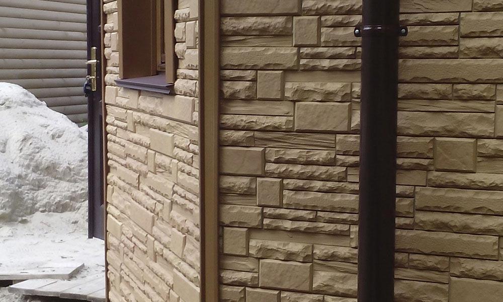 обшивка сайдингом под скалистый камень