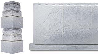 Цокольный сайдинг Фасадная плитка и комплектующий угол