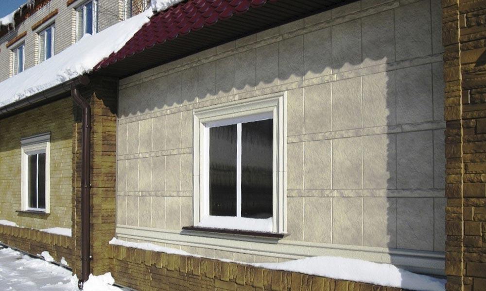 Облицовка фасадными панелями дома